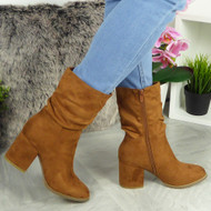 Serena Camel Ankle Boots