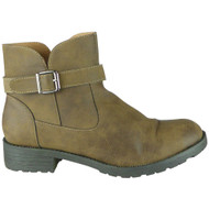 Rodha Khaki Zip Smart Ankle Boot