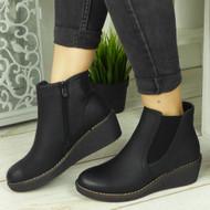 BRINLEY Black Chelsea Ankle Shoes