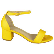 Mikaela Yellow Peep Toe Bridal Buckle Sandals