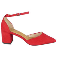 Tatiana Red Ankle Strap Party Shoes