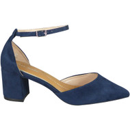 Tatiana Navy Ankle Strap Party Shoes
