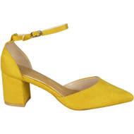 Tatiana Yellow Ankle Strap Party Shoes