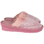 Meghan Pink Fluffy Slip On Shoes