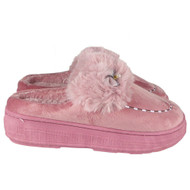 Kehlani Pink Fluffy Flat Slip On Shoes