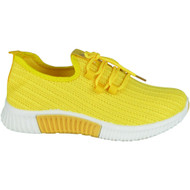 Harmoni Yellow Lace Up Classic Jogging Shoes
