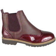 Kensley Wine Slip On Chelsea Ankle Boots