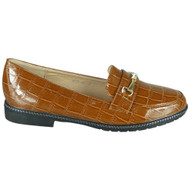 Kennedi Camel Slip On Croc Office Loafers shoes