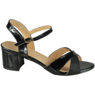 Selah Black Mid Heel Party Large Shoes