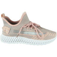 Alejandra Pink Lace Up Classic Jogging Shoes