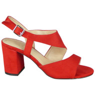 Sylvia Red Peep Toe High Heel Party Shoes