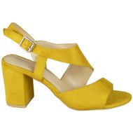 Sylvia Yellow Peep Toe High Heel Party Shoes