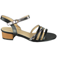 Braelyn Black Peeptoe Strappy Buckle Shoes