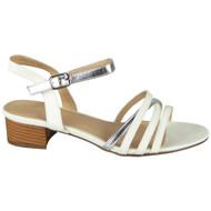 Braelyn White Peeptoe Strappy Buckle Shoes