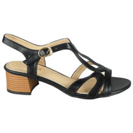 Addyson Black Peeptoe Strappy Buckle Party Shoes