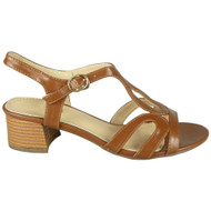 Addyson Camel Peeptoe Strappy Buckle Party Shoes