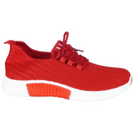 Harmoni Red Lace Up Classic Jogging Shoes