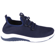 Aria Navy Light Classic Lace Up Trainers