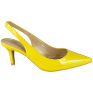 Bronywn Yellow High Heel Slingback Pointed Sandals