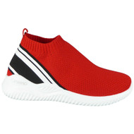 Elodie Red Sock Light Slip On Trainers