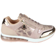Bonita Pink Inspired Classic Lace Up Trainers