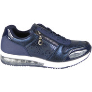 Bonita Navy Inspired Classic Lace Up Trainers