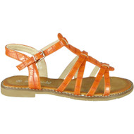 Ulani Orange Flat Buckle Comfy Sandals