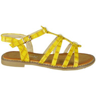 Ulani Yellow Flat Buckle Comfy Sandals