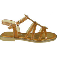 Ulani Camel Flat Buckle Comfy Sandals