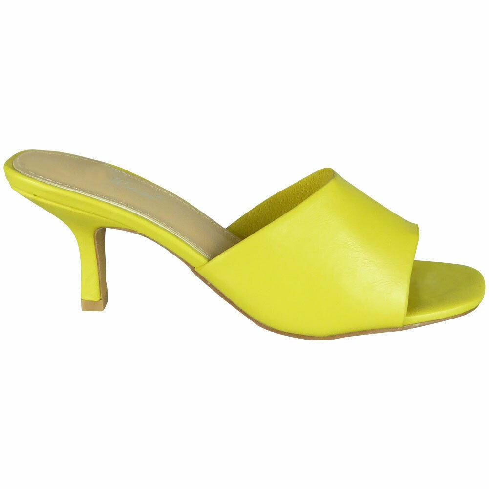 yellow open toe mules