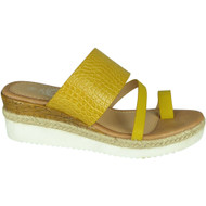 Giselle Yellow Wedges Slip On Casual Shoes