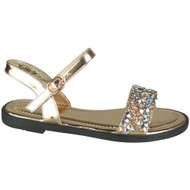 Jazmine Champagne Flat Bling Comfy Shoes