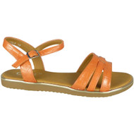 Galilea Orange Flat Strappy Croc Comfy Shoes