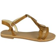 Saige Camel Flat Tassle  Comfy Shoes