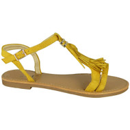 Saige Yellow Flat Tassle  Comfy Shoes