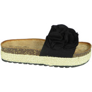 Selene Black Flatform Beach Comfy Shoes