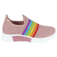 Anais Pink Rainbow Knit Slip On Shoes