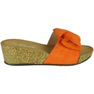 Lyra Orange Platform Comfy Sliders Shoes
