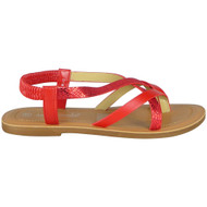Izabella Red Gladiators Strappy Comfy Shoes