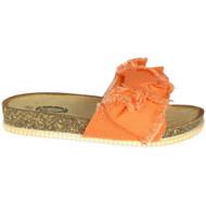 Melina Orange Low Heel Platform Comfy Shoes