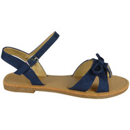 Elliot Navy Summer Flats Comfy Buckle Shoes