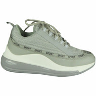 Louisa Grey  Wedge Lace Up Classic Trainers