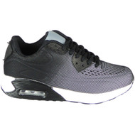 Annika Grey/Black Lace Up Sports Trainers