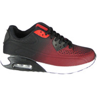 Annika Red/Black Lace Up Sports Trainers