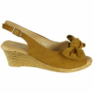 Kailey Camel Light Weight Comfy Buckle Sandals
