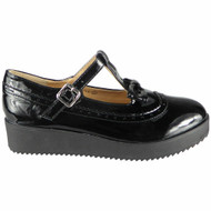 Greta Black Kids Flat Office Work Style 3 Shoes