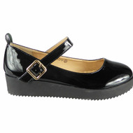 Annabella Black Kids Flat Office Work Style 4 Shoes
