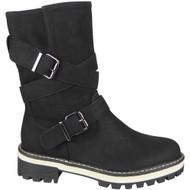 Myra Black Grip Comfy Heel Warm Work Shoes