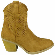 Luella Camel Cowboy Fashion High Heel Shoes