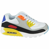 Avianna White Yellow Lace Up Sports Trainers